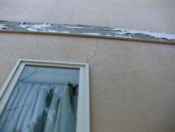 塗膜の剥がれた帯板