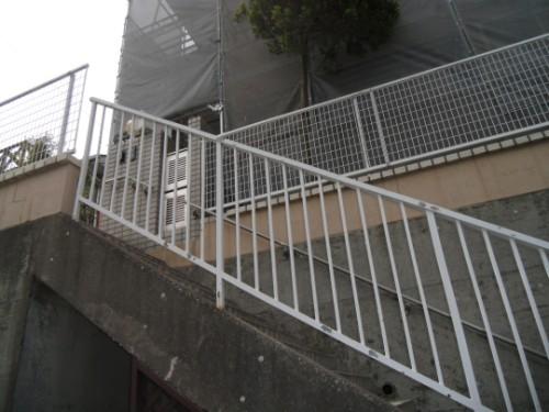 施工前の鉄階段の状態