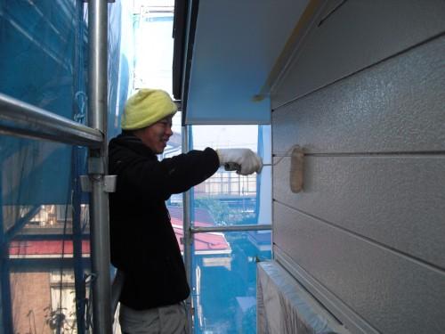 外壁の上塗り写真