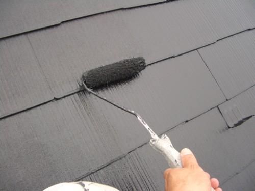 屋根上塗り写真