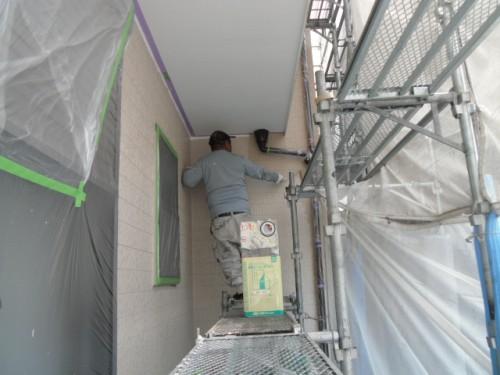 サイディング外壁上塗り